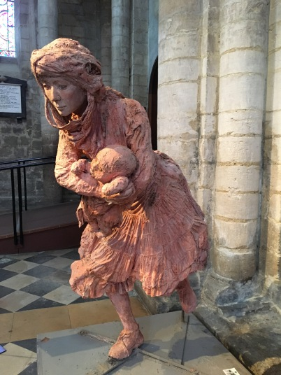 Art work Mother & child in Ely cathedral